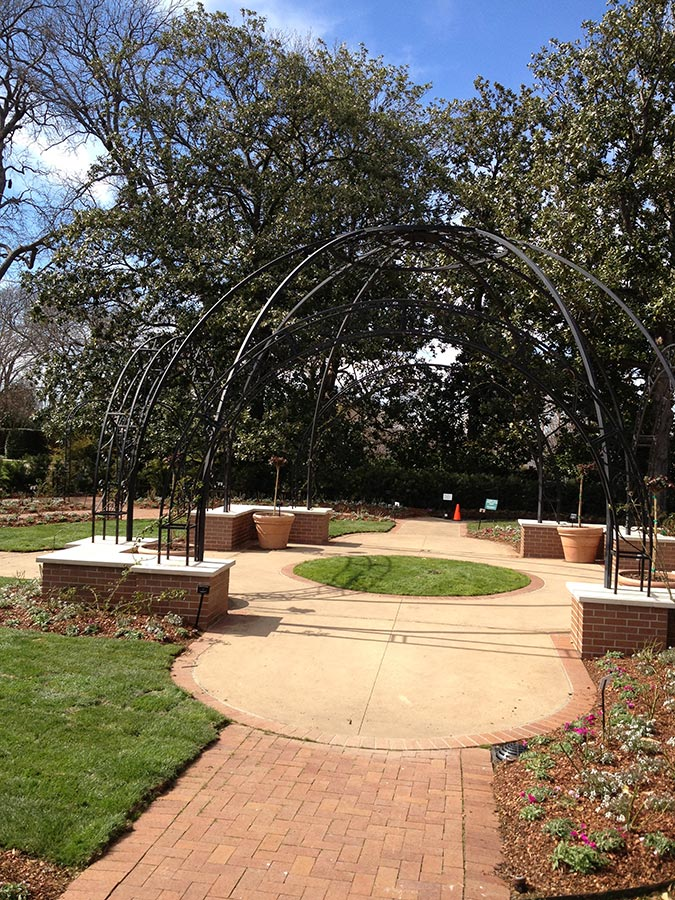 Herb Garden Pavillion at Dallas Arboretum